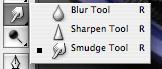 Blur/Smudge/Sharpen tool