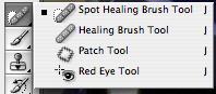 The Spot Healing Tool